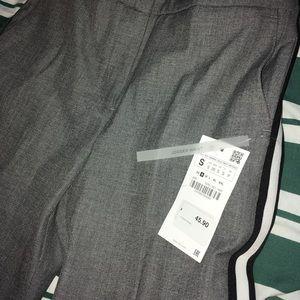 Zara pants with side stripe